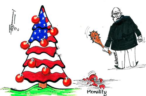 Cartoon: Dick Cheney and Morality (medium) by Thommy tagged dick,cheney,morality,cia