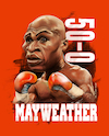 Cartoon: floyd mayweather jr. (small) by joeymasong tagged mayweather,may2,boxing,floyd,art