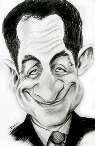 Suite de cadeaux ...Demandez ont vous l'offre - Page 8 Caricature_of_sarkozy_196965