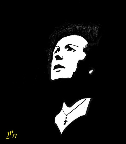 Cartoon: Edith Piaf (medium) by paolo lombardi tagged franca