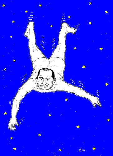 Cartoon: notte di San Lorenzo (medium) by paolo lombardi tagged italy,berlusconi,politics,satire