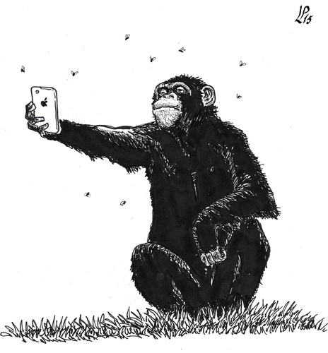 Cartoon: Obsession selfie (medium) by paolo lombardi tagged photo