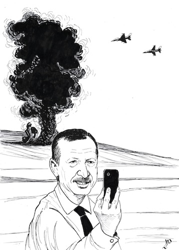 Cartoon: Operation Olive Branch (medium) by paolo lombardi tagged turkey,syria,war