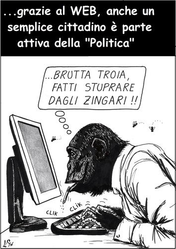 Cartoon: Politica dal basso (medium) by paolo lombardi tagged italy,politics