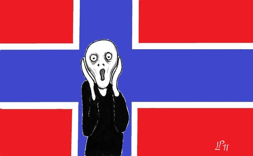 Cartoon: Terror in Norway (medium) by paolo lombardi tagged norway,terrorism,politics