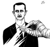 Cartoon: Ali Ferzat Cartoon (small) by paolo lombardi tagged syria assad revolution satire freedom