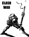 Cartoon: Clash war (small) by paolo lombardi tagged war,afghanistan,peace