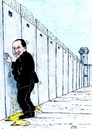 Cartoon: He do not want to see (small) by paolo lombardi tagged italy,berlusconi,palestine,gaza,israel
