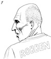 Cartoon: Robben (small) by paolo lombardi tagged netherlands,footbal