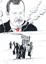 Cartoon: The expulsion (small) by paolo lombardi tagged rojava