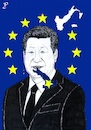Cartoon: Xi Jinping in Italy (small) by paolo lombardi tagged italy,europe,china