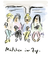 Cartoon: Girls on the train (small) by fussel tagged maedchen,im,zug,handy,smartphone,zugfahren,sms,checken,internet,surfen,mails,emails