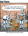 Cartoon: AI (small) by George tagged ai