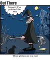 Cartoon: witch transport (small) by George tagged witch,transport