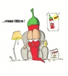 Cartoon: erstmal CHILLen (small) by The Illustrator tagged chili,stress,entspannung,couch,tv,gemüse,spaß