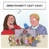 Cartoon: Arbeitsmarkt (small) by Timo Essner tagged arbeit,arbeitsmarkt,arbeitsamt