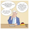 Cartoon: Seehofer und die AfD (small) by Timo Essner tagged innenminister horst seehofer afd verfassungsschutz beobachtung nsu terror rechter terrorfinanzierung deutschland cartoon timo essner