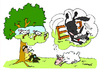 Cartoon: Counting Sheeps (small) by Carma tagged animals,sheeps,wolf,counting,sheep,nature