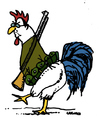 Cartoon: French Rooster (small) by Carma tagged hollande,france,attack,terrorism,french