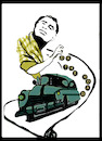 Cartoon: Jack Kerouac (small) by Carma tagged jack,kerouac,on,the,road