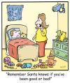Cartoon: TP0251christmas (small) by comicexpress tagged santa,claus,north,pole,toys,sleigh,reindeer,elves,elf,helpers,presents,gifts,chimney,good,bad,list,naughty,nice,behaviour,child,children,parents,surveillance,security