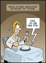 Cartoon: STAR WARS-Happen (small) by DIPI tagged star,wars,skywalker,luke,feta,restaurant,essen,dinner