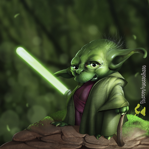 Cartoon: Yoda Fanart (medium) by Rüsselhase tagged yoda,starwars,lichtschwert