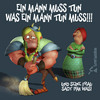 Cartoon: Thats Life (small) by Rüsselhase tagged wikinger,besen,mann,frau