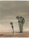Cartoon: Stupid War (small) by Agim Sulaj tagged war,soldiers
