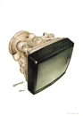 Cartoon: TV (small) by Agim Sulaj tagged tv,media,history,art