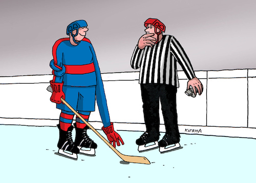 Cartoon: hokdlhoruk (medium) by kotrha tagged ice,hockey,winter,championships,canada