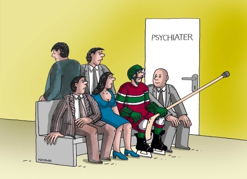 Cartoon: psyhok (medium) by kotrha tagged ice,hockey