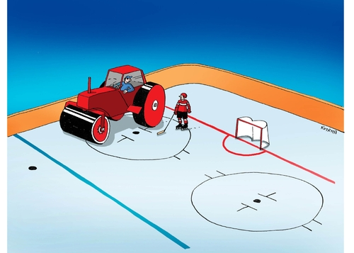 Cartoon: valec2013-far (medium) by kotrha tagged hokej,hockey,world,cup