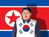 Cartoon: kimflags (small) by kotrha tagged korea,north,south,kim,war,peace,world