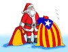 Cartoon: santakatalan (small) by kotrha tagged catalonia,election,independence,spain,europe,euro,world
