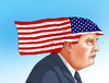 Cartoon: trumphairflag (small) by kotrha tagged hillary,clinton,donald,trump,usa,elections
