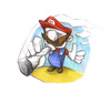 Cartoon: Mario smoking (small) by Trippy Toons tagged super,mario,trippy,marihu,weed,cannabis,stoner,kiffer,ganja,video,game