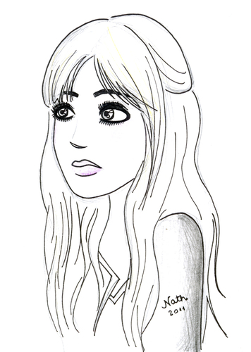 Cartoon: mininha (medium) by naths tagged girl