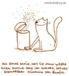 Cartoon: Biomüll (small) by puvo tagged katze,müll,biomüll,sommer,summer,cat,garbage,mülleimer,biological,waste