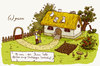 Cartoon: Dachziegen. (small) by puvo tagged ziege,goat,dach,dachziegel,roof,bauer,bauernhof,wortspiel,sturm,tempest,farm,play,word