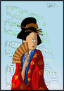 Cartoon: Madame Butterfly (small) by JORI tagged niggemeyer,joricartoon,jori,madame,butterfly