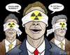 Cartoon: Nuclear band (small) by javierhammad tagged nuclear,crisis,band,executive,money,enviroment,alarm,alert