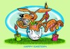 Cartoon: Frohe Ostern1 (small) by Egon58 tagged eier,ostern,hase