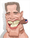 Cartoon: Arnold Schwarzenegger (small) by FARTOON NETWORK tagged arnold,schwarzenegger,moviestar,politics,usa,caricature