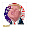 Cartoon: Donald Trump (small) by FARTOON NETWORK tagged donald,trump,usa,caricature,president,politicians,immigration