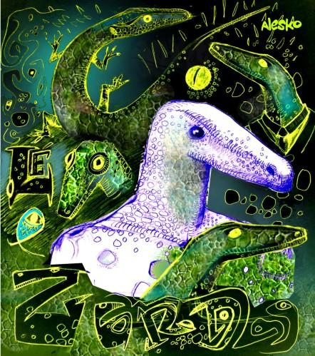 Cartoon: lezard turquoise (medium) by Alesko tagged lezard,documentary,draw,alesko