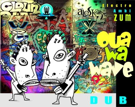 Cartoon: Oua wa wave (medium) by Alesko tagged ouawawave,musique,musicians,logo