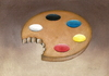 Cartoon: Palette (small) by Riina Maido tagged art,palette,hunger