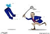 Cartoon: Erdugan and twitter ... (small) by jalal hajir tagged erdugan,twitter
