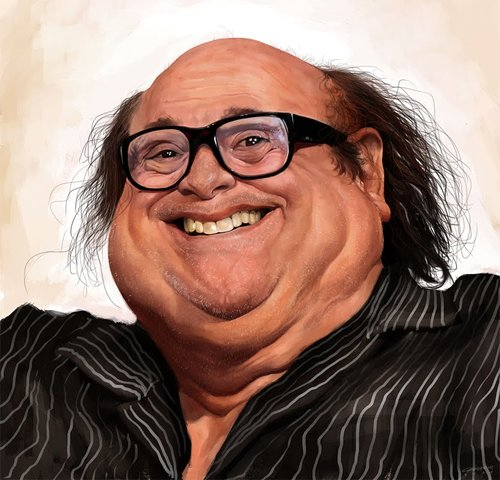 Cartoon: Danny DeVito (medium) by cosminpodar tagged caricature,digital,painting